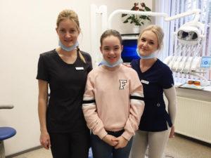 Skolniece Linda ēno zobārstniecībā